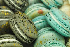 Colorful macaroon cakes royalty free stock images