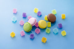 Colorful macaroon and candy Stock Photography