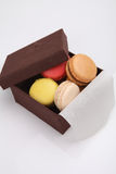 Colorful macaroon in close up Royalty Free Stock Photo