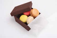 Colorful macaroon in close up Stock Photos