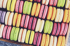 Colorful macaroon cookies background Royalty Free Stock Photography