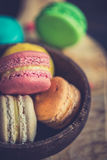 Colorful macaroon cookies Stock Image