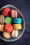 Colorful macaroon cookies Stock Images