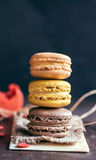 Colorful macaroon cookies Royalty Free Stock Photo