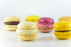 Colorful macaroon isolated Royalty Free Stock Photos