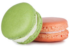 Colorful macaroon isolated on white Stock Image