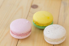 Colorful Macaroon , Macaron boxset on wooden background. Colorful Macaron , Macaroon boxset on wooden background stock image