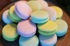 Colorful macaroon. Scenery of colorful many round macaroons Royalty Free Stock Image