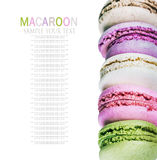 Colorful macaroon stack isolated Stock Image