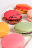 Colorful macaroon on white background. Macaron or Macaroon is s Stock Photography