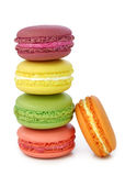 Colorful macaroons. On white background Royalty Free Stock Photo