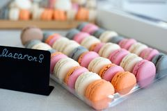 Colorful macaroons background. Royalty Free Stock Photos