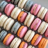 Colorful macaroons background. Royalty Free Stock Photo