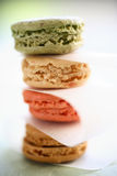 Colorful macaroons in box Stock Photo