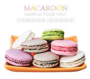 Colorful macaroons cake isolated Royalty Free Stock Image