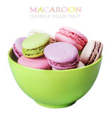 Colorful macaroons cake Stock Photos