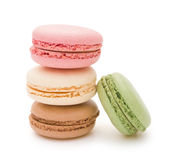 Colorful macaroons with clipping path Stock Photos