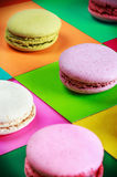 Colorful macaroons collection set Royalty Free Stock Photo