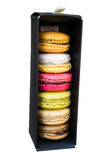 Colorful macaroons in different flavor Royalty Free Stock Images