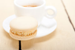 Colorful macaroons with espresso coffee Royalty Free Stock Images