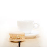 Colorful macaroons with espresso coffee Stock Image