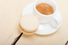 Colorful macaroons with espresso coffee Royalty Free Stock Photography