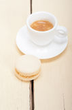 Colorful macaroons with espresso coffee Stock Photo