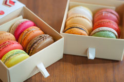 Colorful macaroons Stock Photo