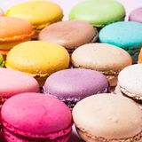 Colorful macaroons stock image