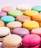 The colorful macaroons royalty free stock image