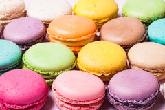 The colorful macaroons stock images
