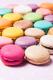 The Colorful macaroons stock photography