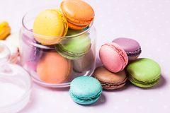 Colorful macaroons Royalty Free Stock Images