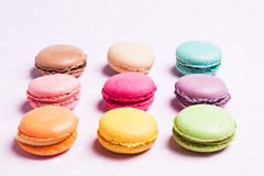 The colorful macaroons royalty free stock photos