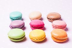 The Colorful macaroons stock photos