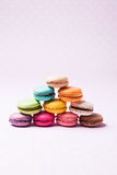 The Colorful macaroons royalty free stock photography