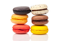 Colorful macaroons, French pastry Royalty Free Stock Photos