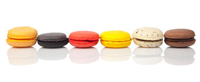 Colorful macaroons, French pastry Royalty Free Stock Images