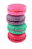 Colorful macaroons isolated Stock Photography
