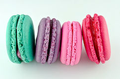 Colorful macaroons isolated Royalty Free Stock Photography