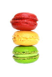 Colorful macaroons isolated Stock Photo