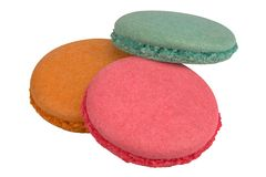Colorful macaroons parts stock image
