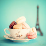 Colorful macaroons royalty free stock photo