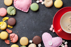 Colorful macaroons. Sweet macarons Stock Images