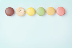 Colorful macaroons. Sweet macarons Royalty Free Stock Photo