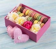 Colorful macaroons. Sweet macarons Stock Image