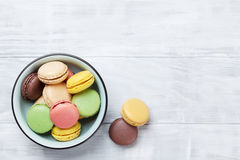 Colorful macaroons. Sweet macarons Stock Photography