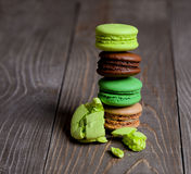 Colorful macaroons tower stock photos
