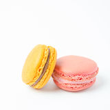 Colorful of macaroons on white background. Colorful macaroons on white background royalty free stock photography