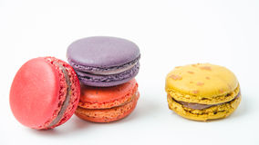 Colorful of macaroons on white background. Colorful macaroons on white background stock image